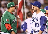 Japhet Amador.<br /> Aspectos del partido Mexico vs Italia, durante Cl&aacute;sico Mundial de Beisbol en el Estadio de Charros de Jalisco.<br /> Guadalajara Jalisco a 9 Marzo 2017 <br /> Luis Gutierrez/NortePhoto.com