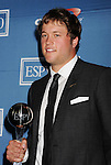 LOS ANGELES, CA - JULY 11: Matthew Stafford  poses in the press room during the 2012 ESPY Awards at Nokia Theatre L.A. Live on July 11, 2012 in Los Angeles, California.