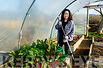 Pictured last Wednesday morning March 3 in her garden polly tunnel, Lios Póil, near Dingle is Catríona Fallon.