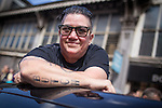 "© Joel Goodman - 07973 332324 . 23/08/2014 .  Manchester , UK . Parade Marshall , Lea DeLaria, of American TV show Orange is the New Black . The parade through Manchester City Centre . Manchester Pride "" Big Weekend "" in Manchester "" today ( 23rd August 2014 ) . Photo credit : Joel Goodman"