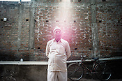 53 year old, Badrinath Singh, father of the rape victim seen outside his ancestral house in Medawar Kalan in Ballia district of Uttar Pradesh, India. Photo: Sanjit Das/Panos for Der Spiegel