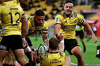 Super Rugby - Hurricanes v Chiefs at Westpac Stadium, Wellington, New Zealand on Saturday  27 April 2019. <br /> Photo by Masanori Udagawa. <br /> www.photowellington.photoshelter.com