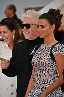 "CANNES, FRANCE. May 17, 2019: Nora Navas, Pedro Almodovar & Penelope Cruz at the gala premiere for ""Pain and Glory"" at the Festival de Cannes.<br /> Picture: Paul Smith / Featureflash"