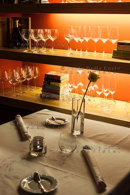 Kobarid - Hiša Franko. particolari del ristorante