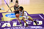 COLUMBUS, OH - APRIL 1: Jazzmun Holmes #10 of the Mississippi State Bulldogs brings the ball up court against Marina Mabrey #3 of the Notre Dame Fighting Irish during the championship game of the 2018 NCAA Division I Women's Basketball Final Four at Nationwide Arena in Columbus, Ohio. (Photo by Tim Nwachukwu/NCAA Photos via Getty Images)