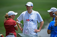 Ceilia Barquin Arozamena (a)(ESP) chats on the tee on 10 during round 2 of the U.S. Women's Open Championship, Shoal Creek Country Club, at Birmingham, Alabama, USA. 6/1/2018.<br /> Picture: Golffile | Ken Murray<br /> <br /> All photo usage must carry mandatory copyright credit (&copy; Golffile | Ken Murray)