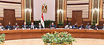 Egypts President Abdel Fattah al-Sisi meets with presidents of African Constitutional and Supreme Courts participating in the third conference organized by the Egyptian Constitutional Court, in Cairo, Egypt, February 19, 2019. Photo by Egyptian President Office