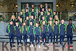 Team Ireland  at the International Children's Games Press Night at the Rose Hotel on Friday. Pictured with Mayor of Kerry Pat McCarthy