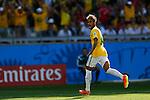 Neymar (BRA),<br /> JUNE 28, 2014 - Football / Soccer :<br /> Neymar of Brazil celebrates during the FIFA World Cup Brazil 2014 Round of 16 match between Brazil 1(3-2)1 Chile at Estadio Mineirao in Belo Horizonte, Brazil. (Photo by D.Nakashima/AFLO)