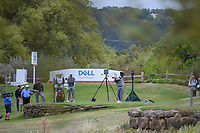Lucas Bjerregaard (DEN) hits his tee shot into the water on 11 during day 4 of the WGC Dell Match Play, at the Austin Country Club, Austin, Texas, USA. 3/30/2019.<br /> Picture: Golffile | Ken Murray<br /> <br /> <br /> All photo usage must carry mandatory copyright credit (© Golffile | Ken Murray)