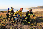 Pescadero State Beach, Cal Fire rescue