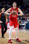 Crvena Zvezda Mts Belgrade's Nemanja Dangubic during Turkish Airlines Euroleague match between Real Madrid and Crvena Zvezda Mts Belgrade at Wizink Center in Madrid, Spain. March 10, 2017. (ALTERPHOTOS/BorjaB.Hojas)
