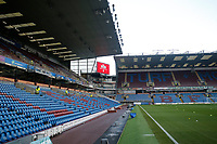 30th November 2019; Turf Moor, Burnley, Lanchashire, England; English Premier League Football, Burnley versus Crystal Palace; An hour before kick off and Turf Moor remains empty due to a power failure in the ground - Strictly Editorial Use Only. No use with unauthorized audio, video, data, fixture lists, club/league logos or 'live' services. Online in-match use limited to 120 images, no video emulation. No use in betting, games or single club/league/player publications