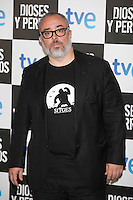 Alex de la Iglesia poses at `Dioses y perros´ film premiere photocall in Madrid, Spain. October 07, 2014. (ALTERPHOTOS/Victor Blanco) /nortephoto.com