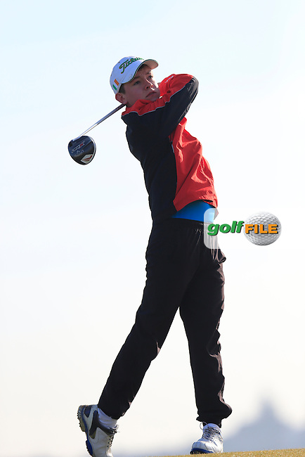 Cian Walker (CO. Cavan) during the Ulster U16 Close Championship 2015, Portstewart Golf Club, Portstewart, Co Londonderry, Ireland.<br /> Picture: Fran Caffrey / Golffile