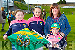 Emma hurley, Ellie Costello, Caoimhe and Helena Hurley welcoming the Kerry minors home to Killarney on Monday evening