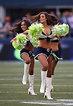 Seattle Seagals perform during the Seahawks vs. Chicago Bears  pre-season game at CenturyLink Field in Seattle, Washington on August 22, 2014.   The Seahawks beat the Bears 34-6.   © 2014.  Jim Bryant Photo. ALL RIGHTS RESERVED.
