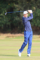 Ross Fisher (USA) on the 2nd fairway during Round 3 of the Sky Sports British Masters at Walton Heath Golf Club in Tadworth, Surrey, England on Saturday 13th Oct 2018.<br /> Picture:  Thos Caffrey | Golffile