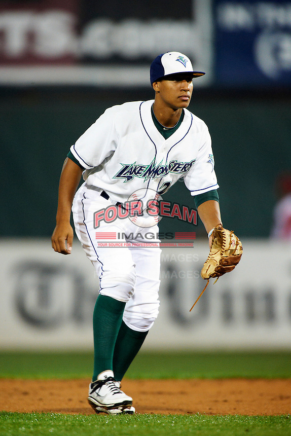Vermont Lake Monsters second baseman Chris Bostick #20 during the NY-Penn League All-Star Game at Eastwood Field on August 14, 2012 in Niles, Ohio.  National League defeated the American League 8-1.  (Mike Janes/Four Seam Images)