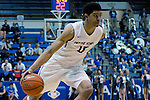March 4, 2017:  Boise State guard, Chandler Hutchison #15, in action during the NCAA basketball game between the Boise State Broncos and the Air Force Academy Falcons, Clune Arena, U.S. Air Force Academy, Colorado Springs, Colorado.  Boise State defeats Air Force 98-70.