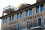 George Clooney and Amal Alamuddin wedding at Venice.<br /> A view of Belmond Hotel Cipriani one of the location for the wedding of George Clooney and Amal Alamuddin at Venice. The wedding celebrate by Walter Veltroni will take place at Venice between 26th and 29th of September 2014.<br /> &copy; Pierre Teyssot