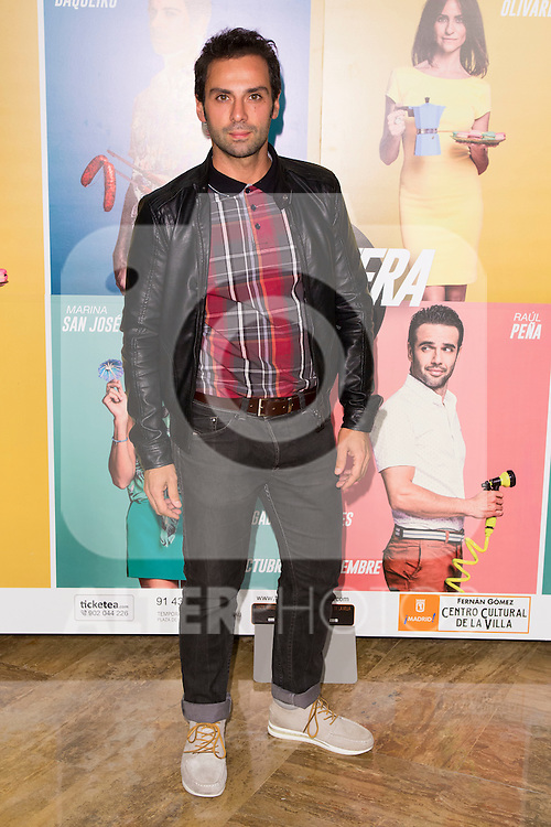 "Carlo D Ursi attends the Premiere of the Theater Play ""Al Final de la carretera"" at Fenan Gomez Theatre in Madrid, Spain. October 7, 2014. (ALTERPHOTOS/Carlos Dafonte)"