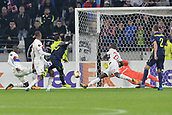 2nd November 2017, Nice, France; EUFA Europa League, Olympique Lyonnais versus Everton;  Anthony Lopes (lyon) makes a save from the shot from Idrissa Gueye (everton)