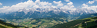 Panoramic view of the Steinerne Meer (stone sea) mountain ridge, Austria