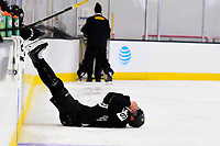 September 15, 2017: Boston Bruins left defenseman John-Michael Liles (26) rests during the Boston Bruins training camp held at Warrior Ice Arena in Brighton, Massachusetts. Eric Canha/CSM