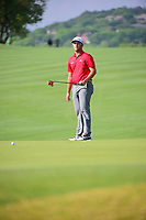 Jon Rahm (ESP) watches his putt on 6 during round 6 of the World Golf Championships, Dell Technologies Match Play, Austin Country Club, Austin, Texas, USA. 3/26/2017.<br /> Picture: Golffile | Ken Murray<br /> <br /> <br /> All photo usage must carry mandatory copyright credit (&copy; Golffile | Ken Murray)