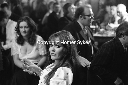 Saturday night and all dressed up at Byker & St.Peters Working Men's Social Club Newcastle upon Tyne, Tyne and Wear northern England 1973