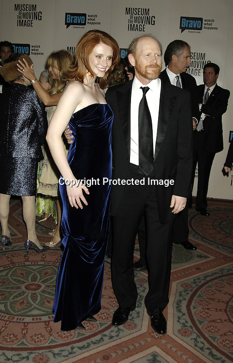 Bryce Dallas Howard and father Ron Howard..at The Museum Of The Moving Image Salute to Ron Howard on December 4, 2005 at The Waldorf Astoria Hotel. ..Photo by Robin Platzer, Twin Images