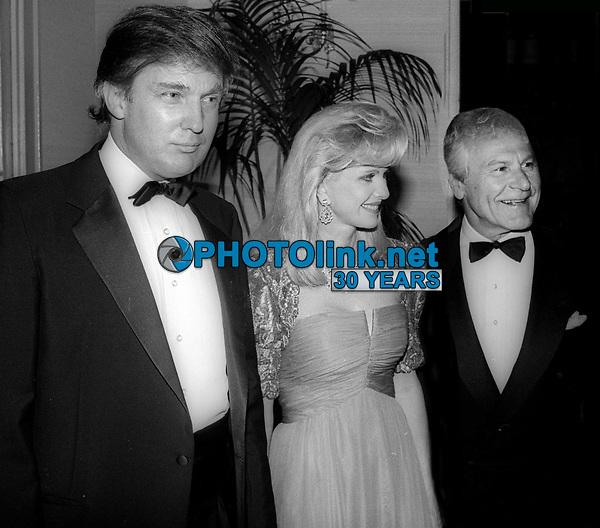 Donald Trump Ivana Trump Sam Wanamaker<br /> Photo By John Barrett/PHOTOlink