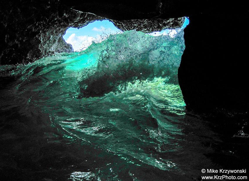 Sea Cave at Waimea Bay, Oahu