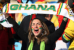 13 JUN 2010:  Ghana fan with her team's scarf.  The Serbia National Team played the Ghana National Team at Loftus Versfeld Stadium in Tshwane/Pretoria, South Africa in a 2010 FIFA World Cup Group D match.