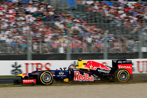 18.03.2012. Melbourne, Australia.   Sebastian Vettel Red Bull Racing GP Australia 2012 Formula 1 Grand Prix Australia Jenson Button won the race with Sebbastian Vettel in second and Lewis Hamilton in third place.