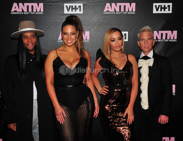 New York, NY: December 8:  Law Roach, Ashley Graham, Rita Ora and Drew Elliott attends the VH1 America's Next Top Model premiere party at Vandal on December 8, 2016 in New York City.@John Palmer / Media Punch