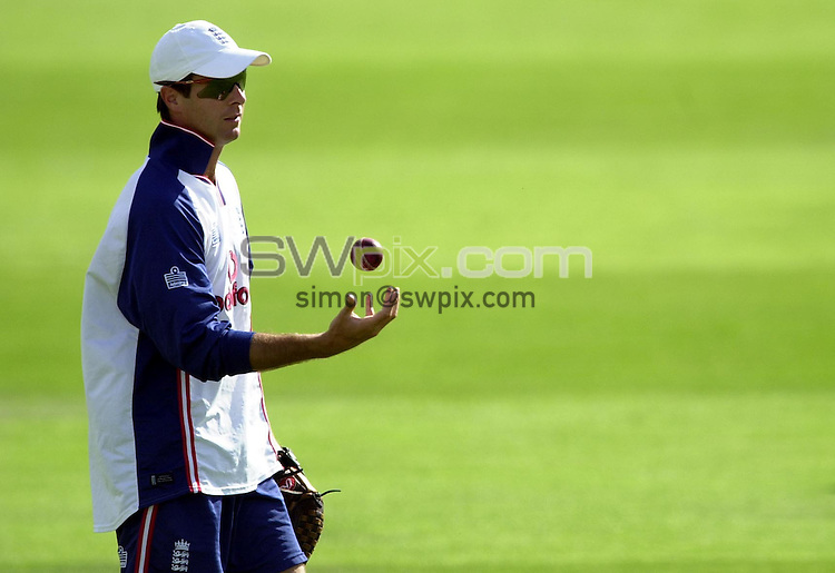 Pix: Matthew Lewis/SWpix.com. International Cricket. England Cricket Training, Trent Bridge. 13/08/03..COPYRIGHT PICTURE>>SIMON WILKINSON>>0870 092 0092>>..England's Michael Vaughan.