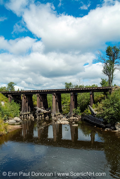 Railroad Bridge on the side of Airport Road near Mt Washington Regional Airport in Whitefield, New Hampshire USA.