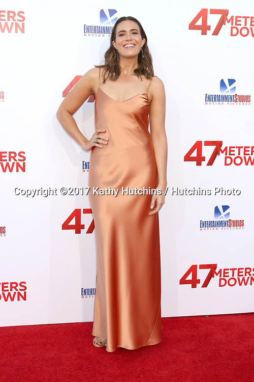 "LOS ANGELES - JUN 12:  Mandy Moore at the ""47 Meters Down"" Premiere at the Village Theater on June 12, 2017 in Westwood, CA"