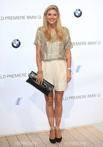 Ashley James arriving for the BMW i3 Launch Party, at Old Billingsgate, London. 29/07/2013 Picture by: Alexandra Glen / Featureflash