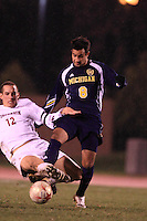 November 13, 2008: University of Michigan's Mauro Fuzetti (#8) controls the ball during the first round of the 2008 Big Ten Tournament in Madison Wisconsin.