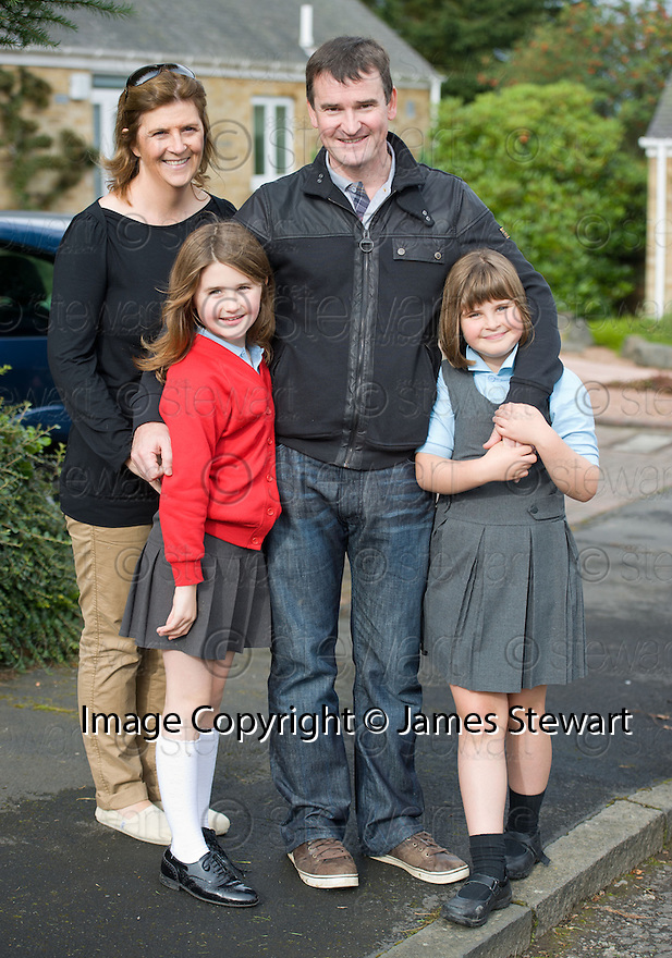 Andy Murray's uncle, Niall Erskine with his wife Tracy and twin daughters Ailsa and Cora the morning after his US Open Grand Slam win ..