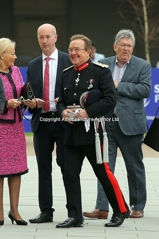 Pictured: Morfudd Meredith, Her Majesty's Lord-Lieutenant of South Glamorgan arrives at Swansea University Bay Campus. Saturday 14 October 2017<br /> Re: Hillary Clinton, the former US secretary of state and 2016 American presidential candidate will be presented with an honorary doctorate during a ceremony at Swansea University's Bay Campus in Wales, UK, to recognise her commitment to promoting the rights of families and children around the world.<br /> Mrs Clinton's great grandparents were from south Wales.