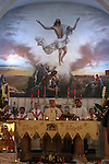 The Latin Patriarch of Jerusalem Fuad Twal leads a special mass held at the Holy Family Church in the Palestinian West Bank city of Ramallah on January 2, 2011 to commemorate the victims of the New Year bomb attack against a Coptic church in the Egyptian port city of Alexandria which has hit Egypt's Christian community, the biggest in the Middle East less than 48 hours ago. Photo by Issam Rimawi