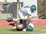 Palos Verdes, CA 10/07/16 - Alex Martinez (Peninsula #10), Chris Brown (Mira Costa #4) and unidentified Mira Costa player(s) in action during the CIF Bay League game between Mira Costa and Peninsula.
