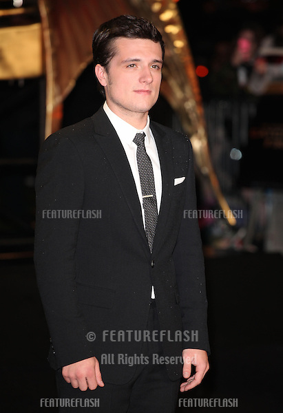 Josh Hutcherson arriving for The Hunger Games, Catching Fire World Premiere, London Leicester Square. 11/11/2013 Picture by: Alexandra Glen / Featureflash