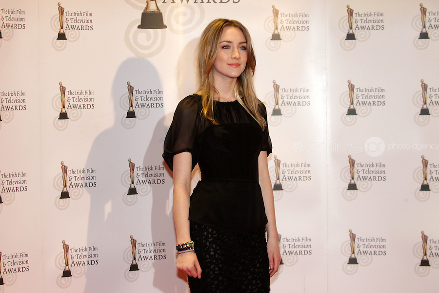 12/2/11 Saoirse Ronan on the red carpet at the 8th Irish Film and Television Awards at the Convention centre in Dublin. Picture:Arthur Carron/Collins