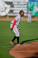 Hector Vargas (19) of the Billings Mustangs during the game against the Ogden Raptors in Pioneer League action at Lindquist Field on August 12, 2016 in Ogden, Utah. Billings defeated Ogden 7-6. (Stephen Smith/Four Seam Images)