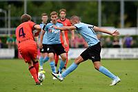 HAREN - Voetbal, FC Groningen - Real Sociedad, voorbereiding seizoen 2017-2018, 02-08-2017,  FC Groningen speler Jesper Drost met Illarromendi
